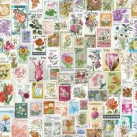 Purldeco Flower Stamps Wallpaper