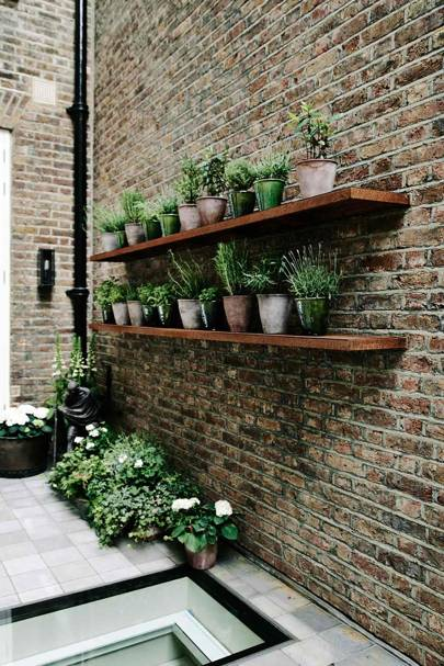 Roof Garden Shelves