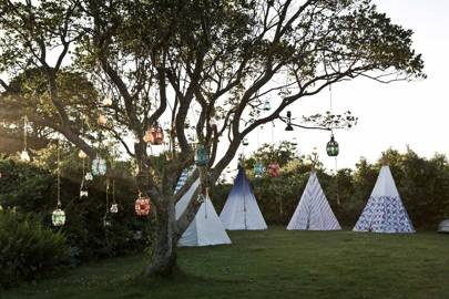 Patterned Teepees for Guests