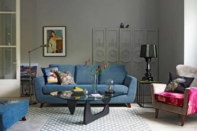 Soft grey and soft furnishings