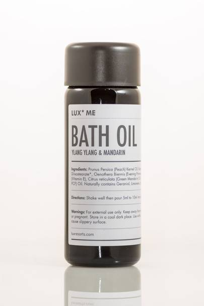 February 10: LUX* Me Bath Oil, Ylang Ylang & Mandarin, £24.50