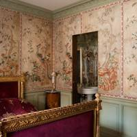 Pink painted wall panels