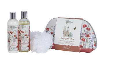 23. RHS Poppy Meadow Body Indulgence Gift Bag, £18.00