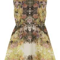 Green Floral Print Dress