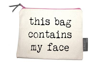 July 20: This Bag Contains My Face, £12.99, from Lola & Gilbert