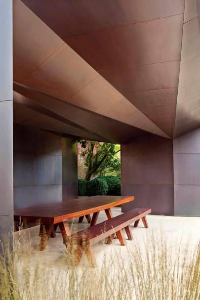 Modern Bronze Pavilion