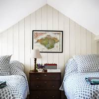 White Tongue and Groove Attic Bedroom