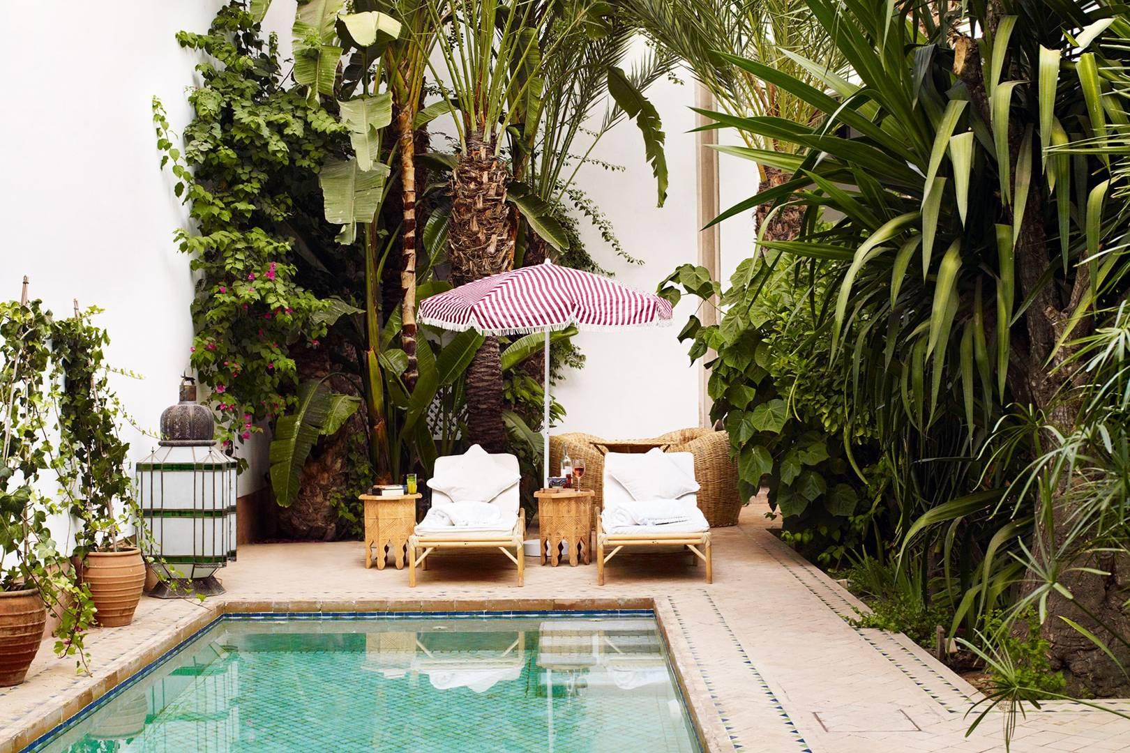 Inside L Hotel Marrakech Jasper Conran S Riad House Garden