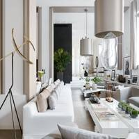 Kelly Hoppen's modern open plan living room