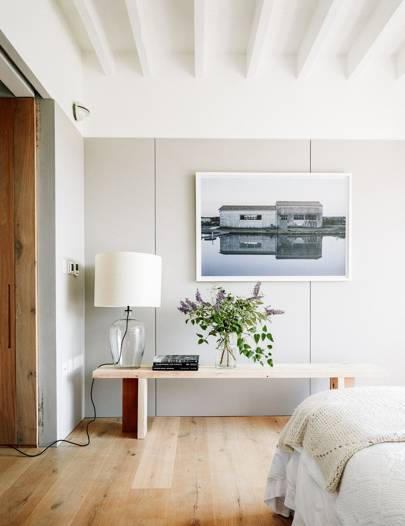 The Architect Graham Bizley And His Interior Designer Wife Emily Clad Their Bedroom Walls With 1 2 Metre Wide Plywood Sheets Timber Panelling Needs To Be