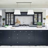 Monochrome with pendant lights