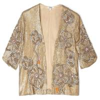 Gold Sequin Embroidered Jacket