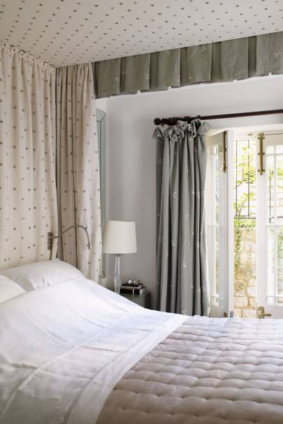Small nook with curtains