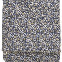 En Fil D'Indienne, Reversible Block Print Cotton Quilted Throw