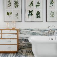 Marble and Botanical Prints