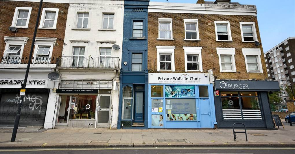 London's narrowest house, only 5ft 5in wide, is on sale for just under £1m