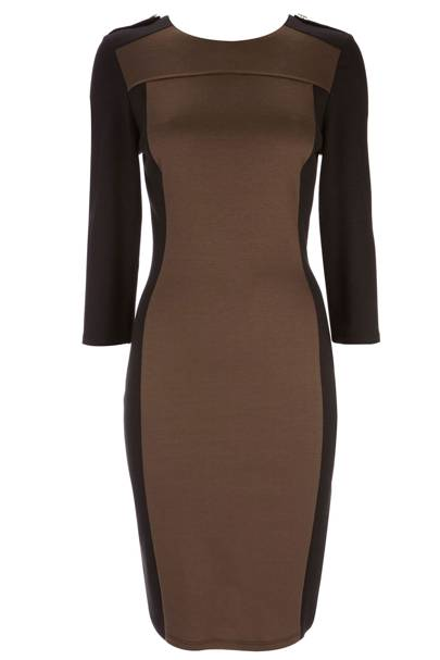 Green and Black Bodycon Dress