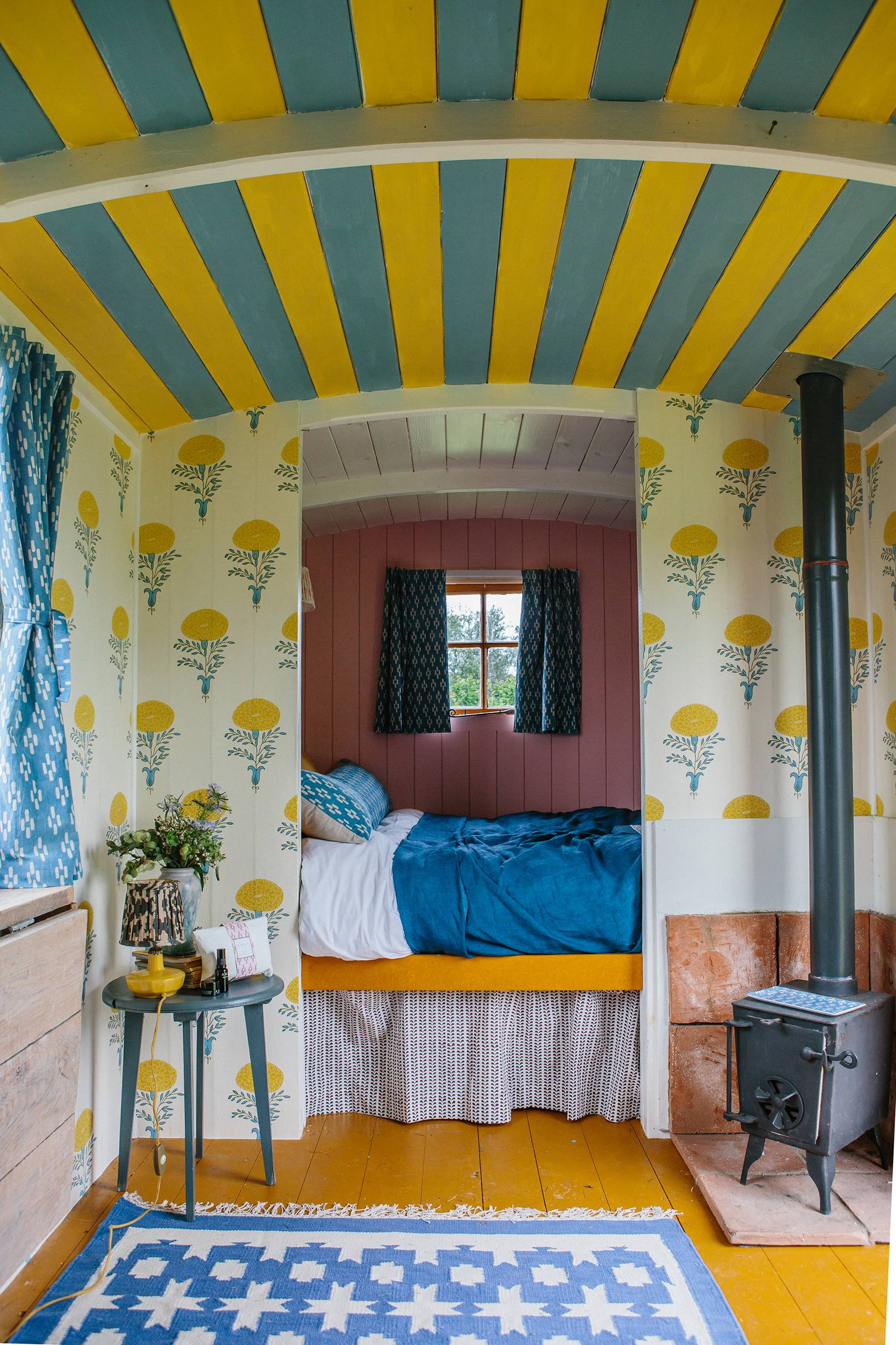 An utterly charming shepherd's hut by textile designer Molly Mahon