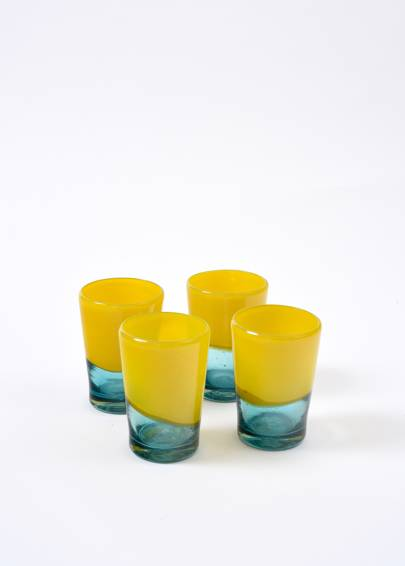 'Yellow and Turquoise Tumbler', £12