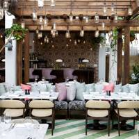 Outdoor Dining Area at Miami Beach House