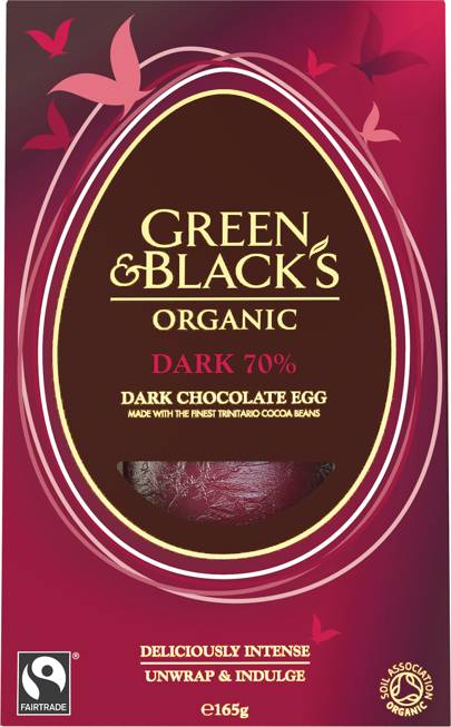 Green & Black's Organic Medium Dark Egg, 165g, £6.59