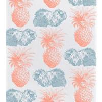 Guinea Pig & Pineapple tea towel