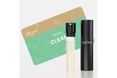 February 2: Sniph box with Clean fragrance + gift card, £36.00