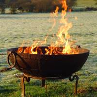 Sit around the fire bowl