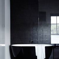 Black Bathroom Tiling