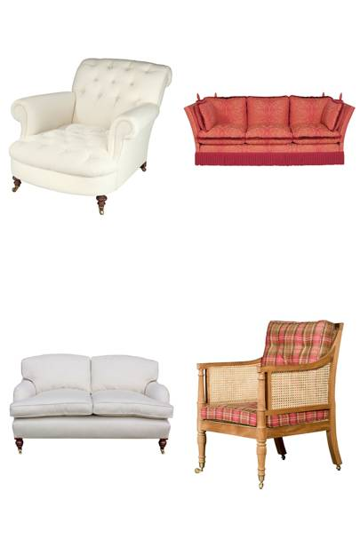 Four Classic Living Room Seats