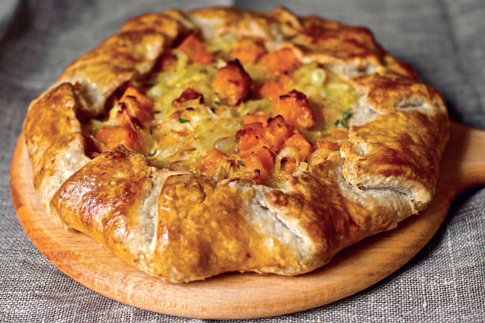 Butternut Squash And Caramelised Onion Galette