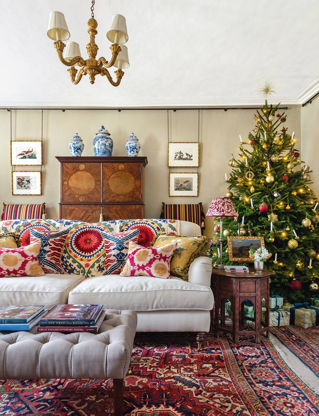 Carlos Garcia's Norfolk manor house richly decorated for Christmas