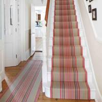 Retro Striped Carpet Stair Runner