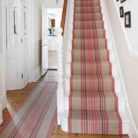Retro Striped Carpet Stair Runner