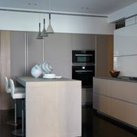 Modern Kitchen with Pale Wood Counters