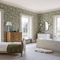 Bathroom with Bed - Traditional Hampshire Country House