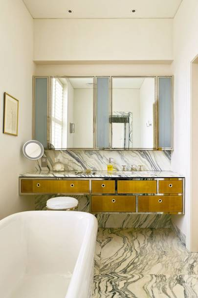 Marble Floor with Art Deco Cabinets