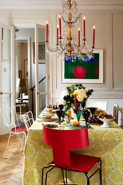 colourful christmas dinner table christmas table ideas