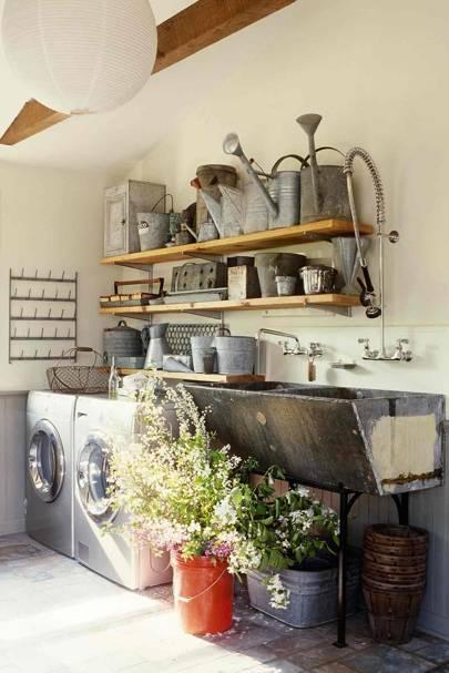 Open Shelves - Utility Room Ideas