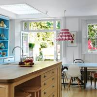 Modern London kitchen with country furniture