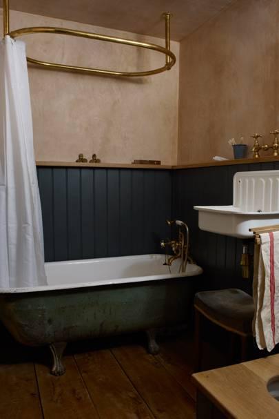 Victorian-style Utilitarian Bathroom
