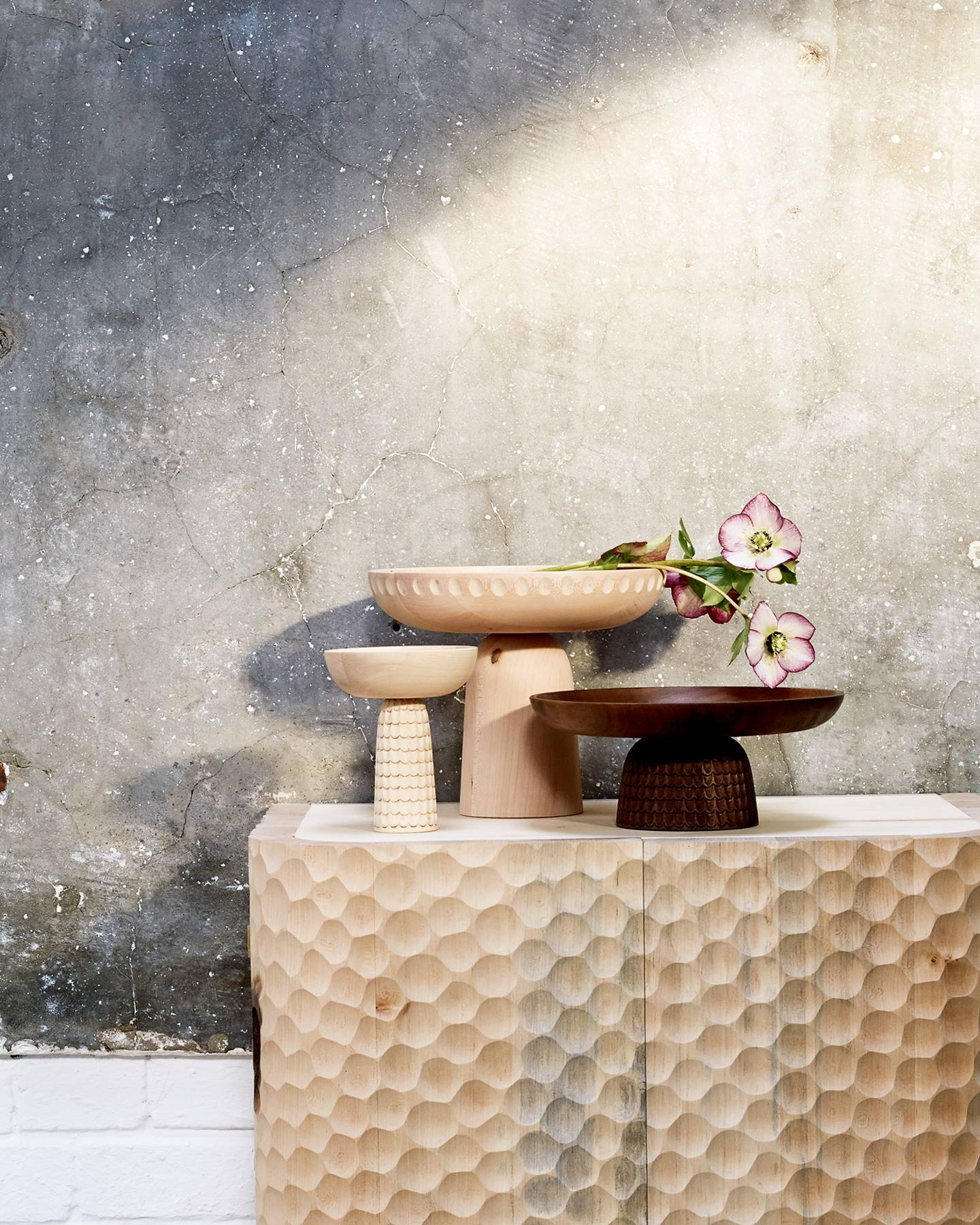 A decorating scheme that highlights the singular beauty of textured pieces