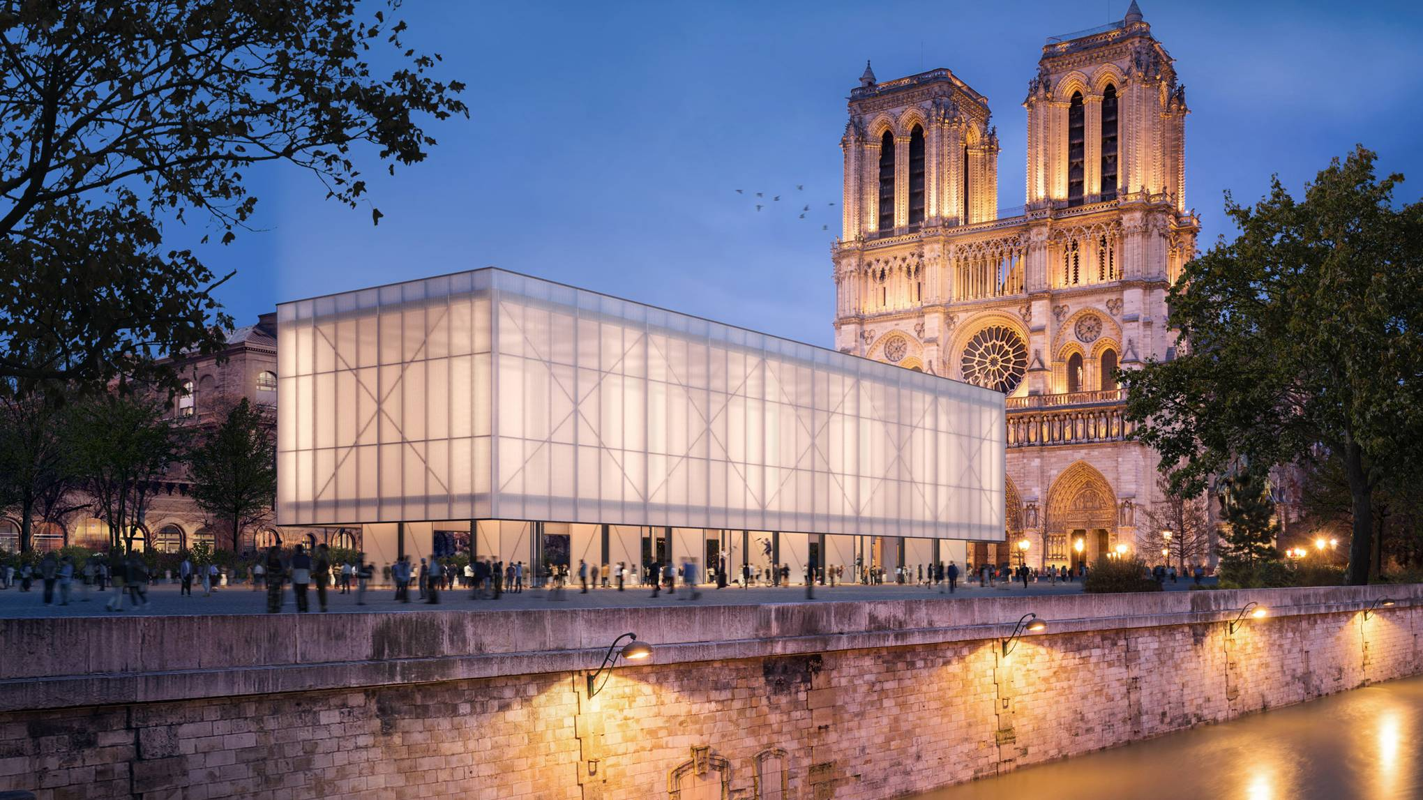 Notre Dame may welcome a temporary pavilion for worship while renovations take place