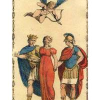 The Lovers from The Ancient Tarot of Lombardy