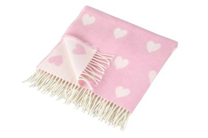 December 25: Cologne & Cotton Lambswool Pink Heart Baby Blanket, £32
