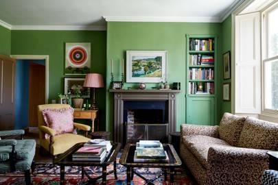 Rendered Garden Wall Ideas, Green Paint Ideas House Garden
