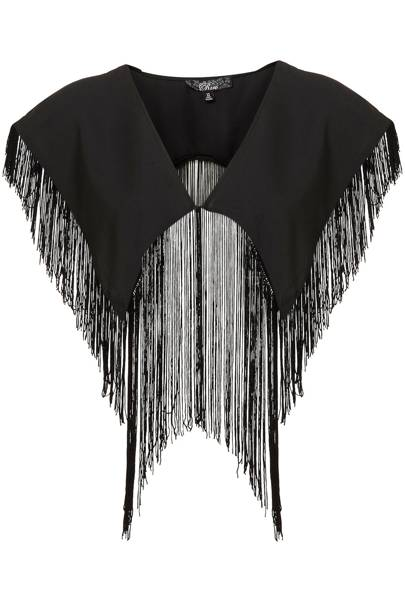 Fringed Black Shawl
