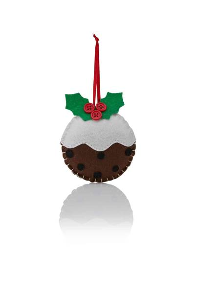 B&Q - Felt Christmas Pudding