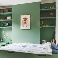 Green Kid's Bedroom With Underbed Storage