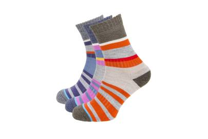 July 14: 3 Pairs of Women's Merino Wool Multi Stripe Socks, £42, from PITTCH